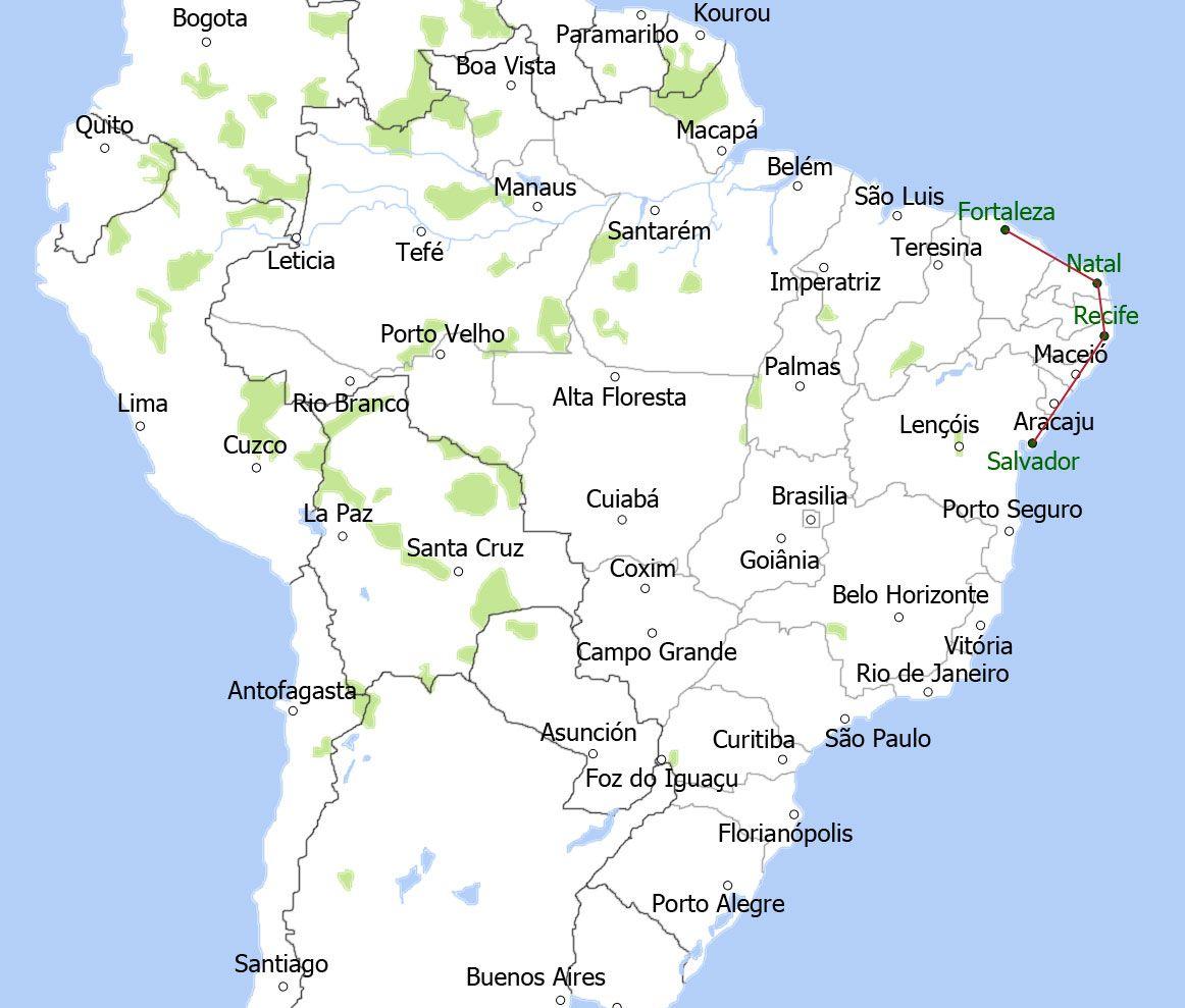 map-bruisend-brazilie-groot