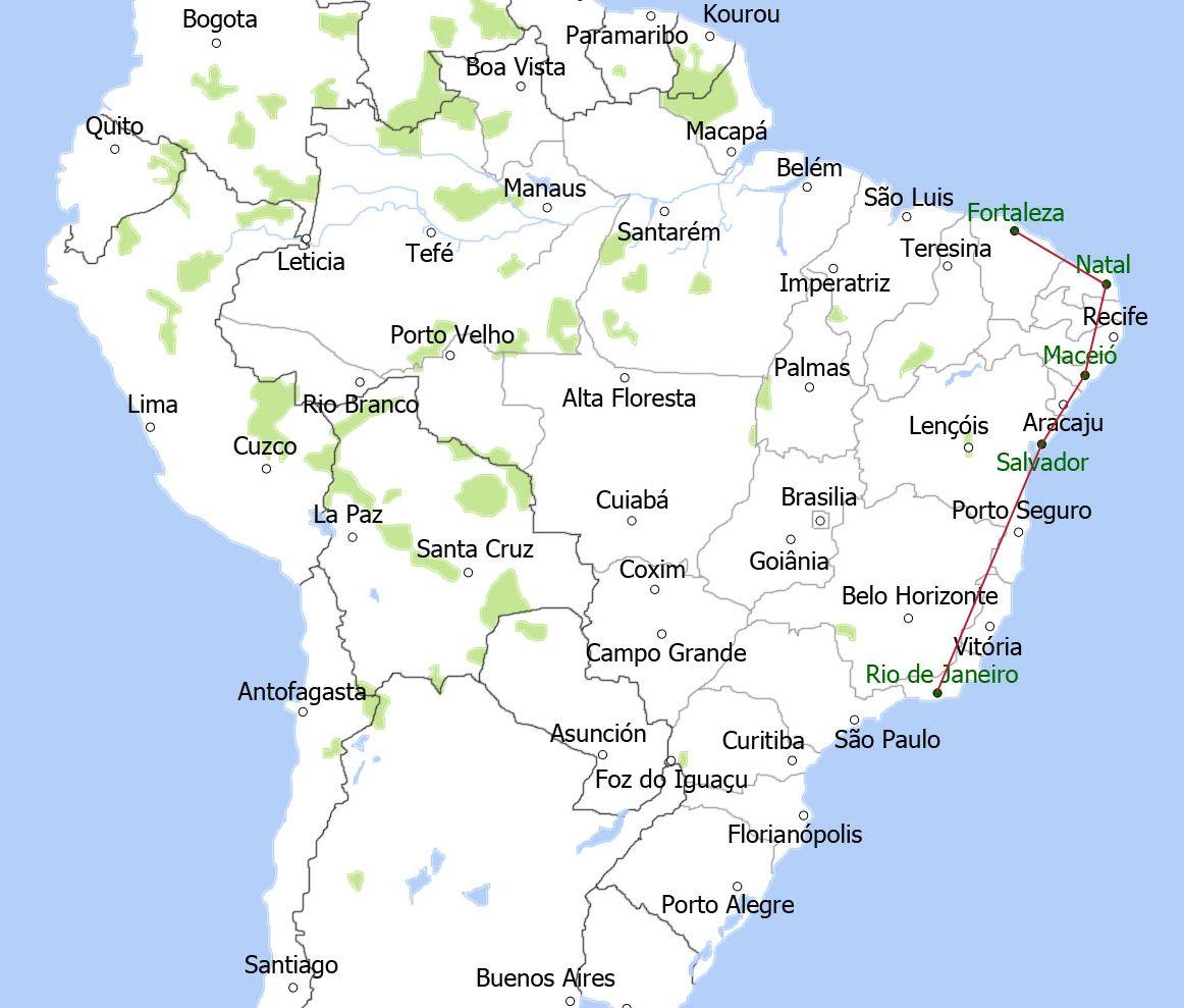 map-de-stranden-van-brazilie-groot